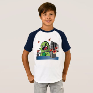 Fidget Spinner Kids' Short Sleeve Raglan T-Shirt