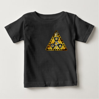 Fidget Spinner Nuclear Radiation Warning Triangle Baby T-Shirt