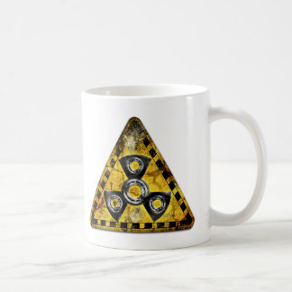 Fidget Spinner Nuclear Radiation Warning Triangle Coffee Mug