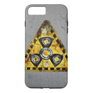 Fidget Spinner Nuclear Radiation Warning Triangle iPhone 8 Plus/7 Plus Case