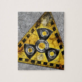 Fidget Spinner Nuclear Radiation Warning Triangle Jigsaw Puzzle