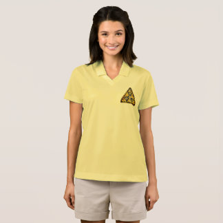 Fidget Spinner Nuclear Radiation Warning Triangle Polo Shirt