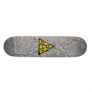Fidget Spinner Nuclear Radiation Warning Triangle Skate Decks