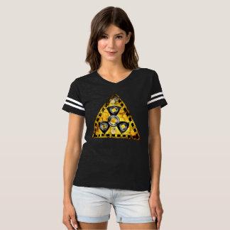 Fidget Spinner Nuclear Radiation Warning Triangle T-shirt