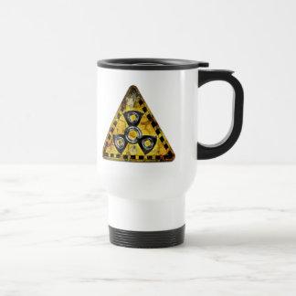 Fidget Spinner Nuclear Radiation Warning Triangle Travel Mug