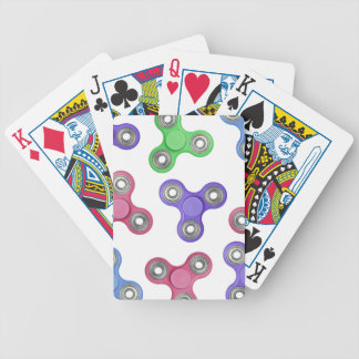 Fidget spinner pattern bicycle playing cards