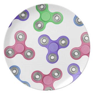 Fidget spinner pattern plate