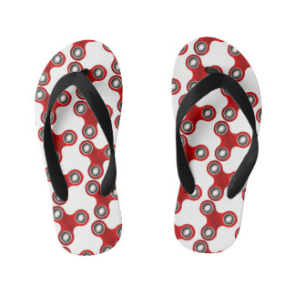 Fidget Spinner Red White Fun Flip Flop
