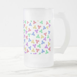 Fidget Spinners Frosted Glass Beer Mug