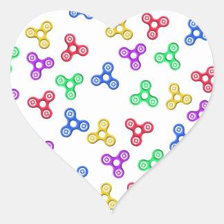 Fidget Spinners Heart Sticker