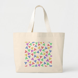 Fidget Spinners Large Tote Bag