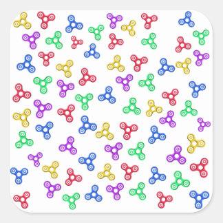 Fidget Spinners Square Sticker