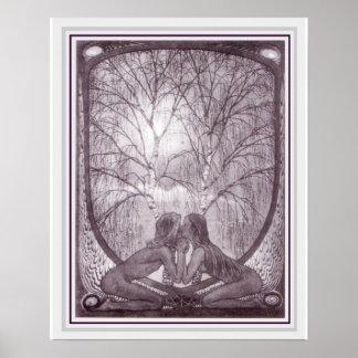 Fidus Art Nouveau Sphinx Poster 16 x 20