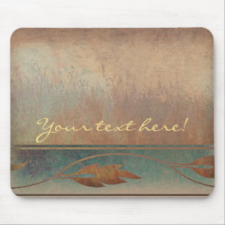 Field and Leaves Abstract Mouse Pad