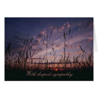 Field and Sky Condolence Card