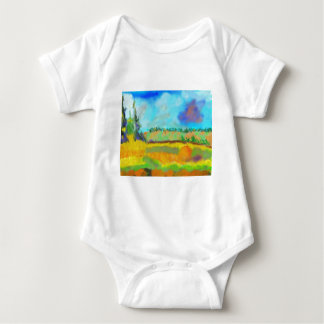 Field Art, After Pissarro Baby Bodysuit