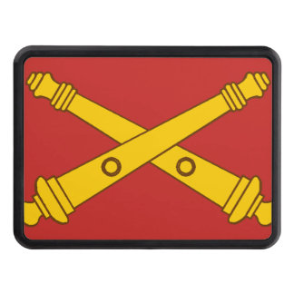 Field Artillery Crossed Cannons Trailer Hitch Cover