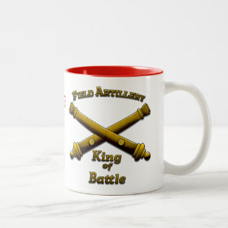Field Artillery - King of Battle - Drinkware Two-Tone Coffee Mug