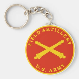 Field Artillery Seal Plaque Keychain