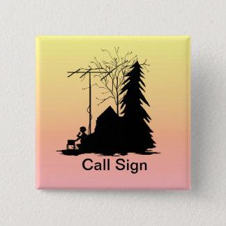 Field Day Operator Silhouette Sunrise Button