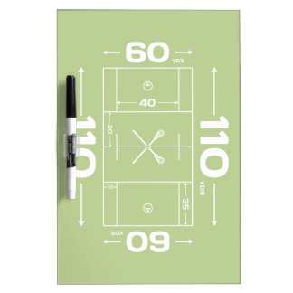 Field Dimensions Dry Erase Board