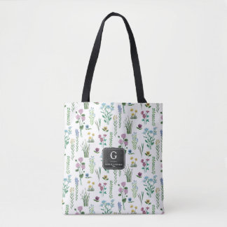 Field Flowers Floral Pattern   Tote bag