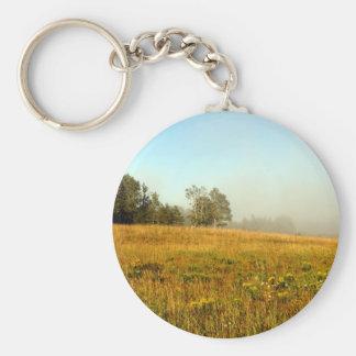 Field Fog Lifting Basic Round Button Keychain
