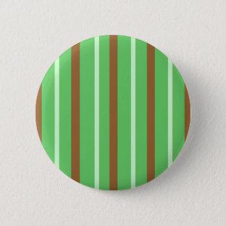 Field Green Stripes 2 Inch Round Button