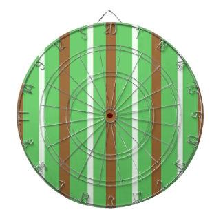 Field Green Stripes Dartboard
