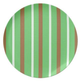Field Green Stripes Plate
