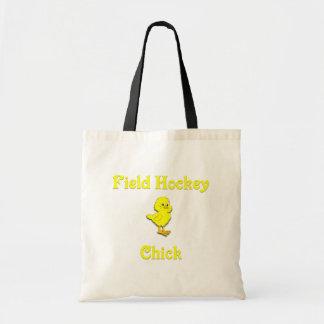 Field Hockey  Chick Tote Bag