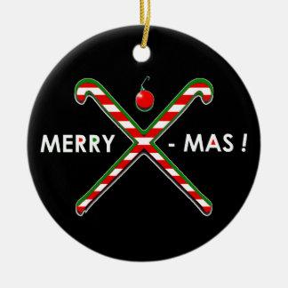 Field Hockey Christmas Ceramic Ornament