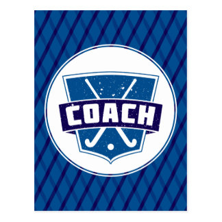 Field Hockey Coach Shield Post Card