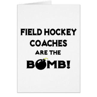 Field Hockey Coaches Are The Bomb! Card