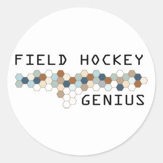 Field Hockey Genius Round Stickers