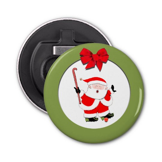 field hockey holiday gift button bottle opener
