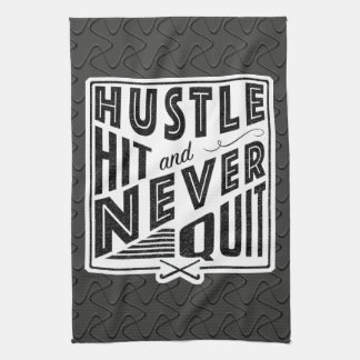 Field Hockey Hustle, Hit And Never Quit Tea Towel