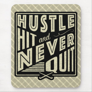 Field Hockey Hustle Hit & Never Quit Mouse Mat Mouse Pad