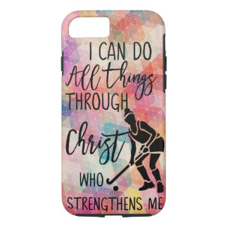 Field Hockey I Can Do All Things Through Christ Case-Mate iPhone Case