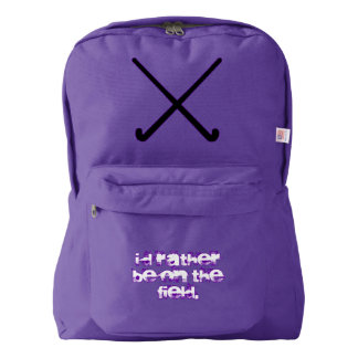 Field Hockey I'd Rather Be on the Field Backpack