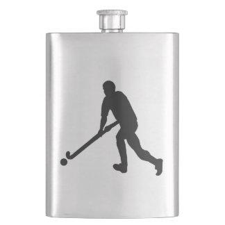 Field Hockey Male Silhouette Hip Flask