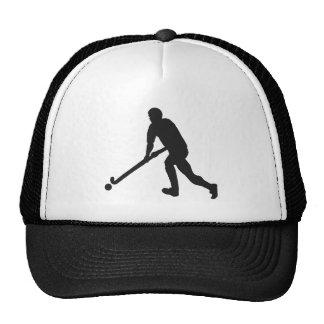 Field Hockey Male Silhouette Trucker Hat