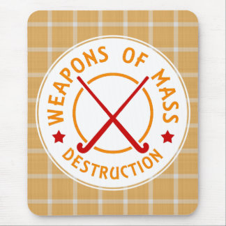 Field Hockey Weapons of Destruction Mouse Mat Mouse Pad