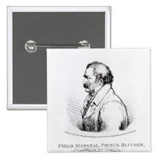 Field Marshal Prince Blucher of Wahlstadt 2 Inch Square Button