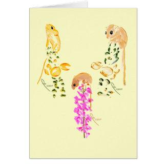field mice playing card