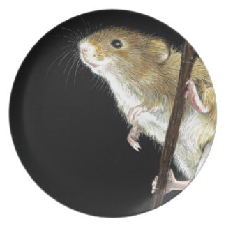 Field Mouse design Party Plate