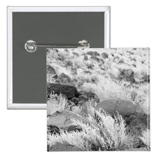 Field of Basalt 2 Inch Square Button
