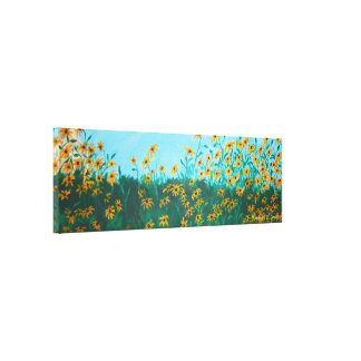 Field of Black-Eyed Susans by Farmhouse Painting Canvas Print