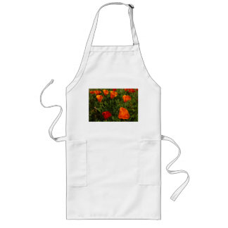 Field of California Poppies Long Apron