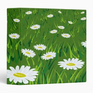 Field of Daisies Binder Vinyl Binder